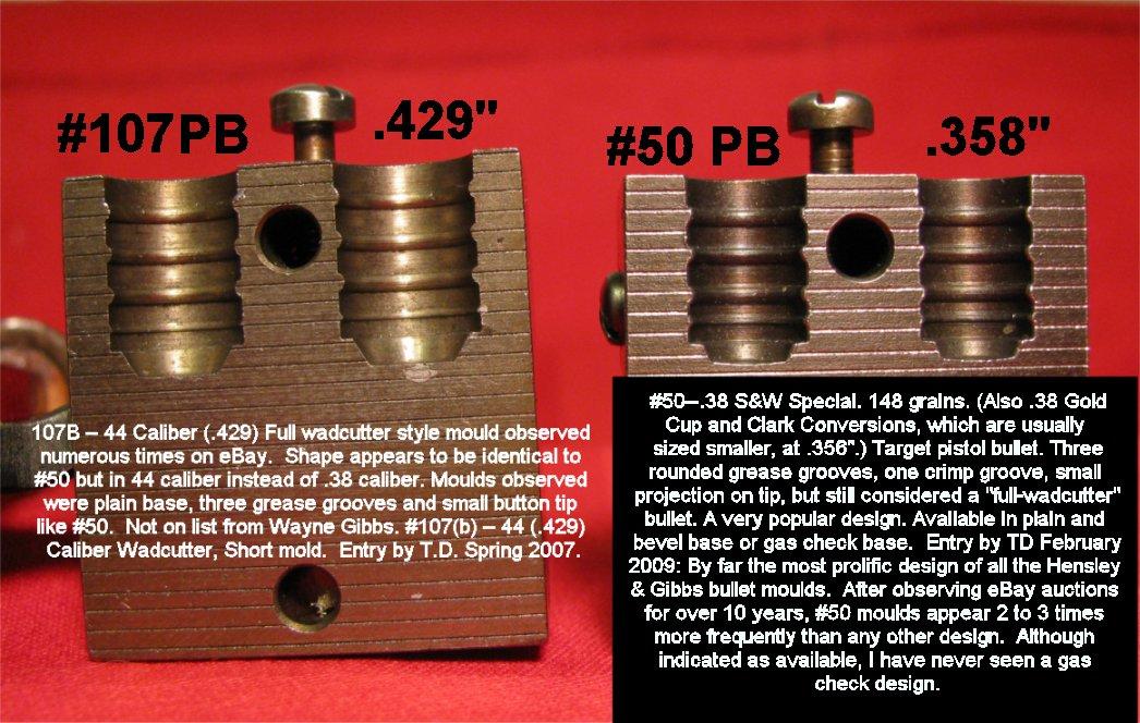 Hensley & Gibbs #107  44 Caliber Full Wadcutter